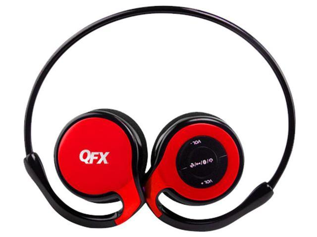 QFX H-151BT Sports Bluetooth Stereo Headset with Microphone - Red