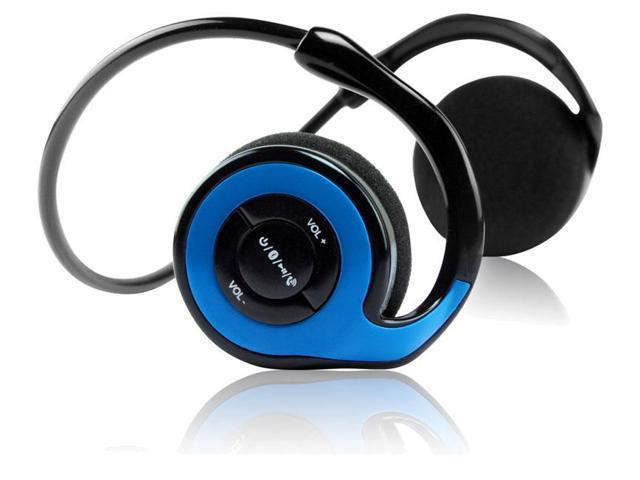 QFX H-151BT Sports Bluetooth Stereo Headset with Microphone - Blue