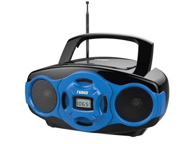 Naxa NPB-264 Portable Mini MP3/CD Boombox with AM/FM Radio and USB Player - Blue
