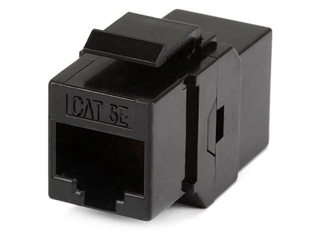 Cat5e Inline Coupler Type Keystone Jack - Black (7285)