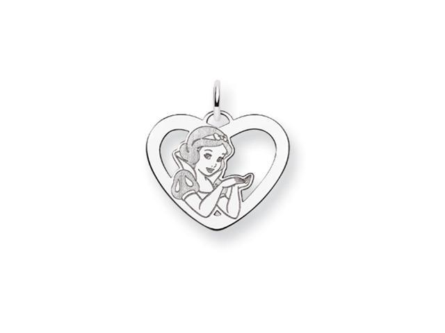 Disney's Snow White Heart Charm in Sterling Silver