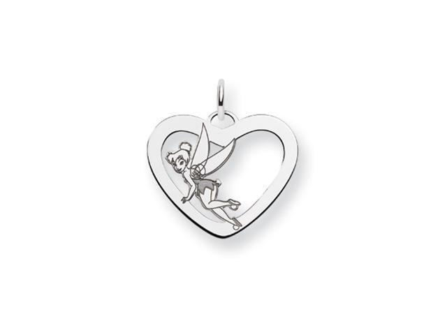 Disney's Tinker Bell Heart Charm in Silver