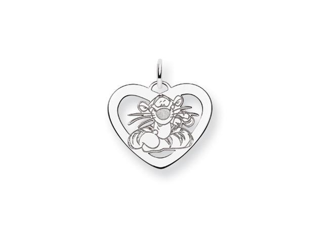 Disney's Tigger Heart Charm in Sterling Silver