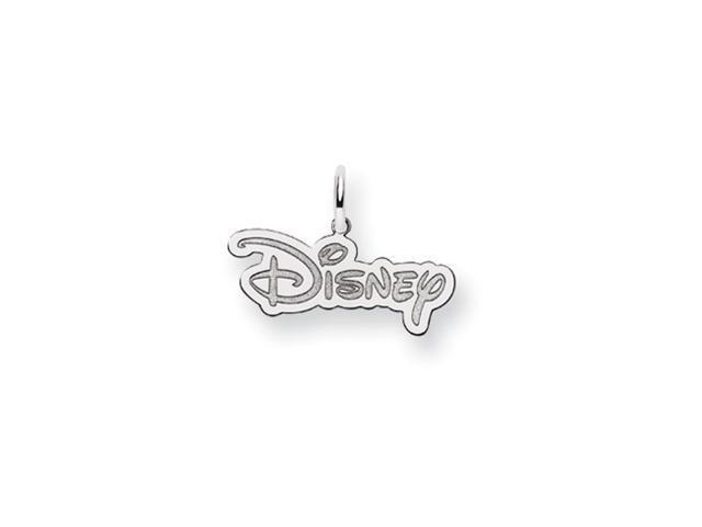 Disney's Logo Charm in Sterling Silver - 3/4 Inch