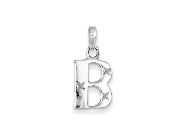 Sterling Silver, Sabrina Collection, D/C Initial Pendant, Letter B