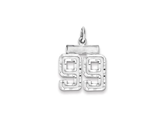 Sterling Silver, Varsity Collection, Small D/C Pendant, Number 99