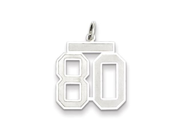 Sterling Silver, Jersey Collection, Medium Number 80 Pendant