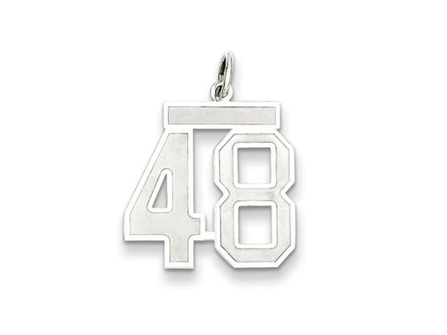 Sterling Silver, Jersey Collection, Medium Number 48 Pendant