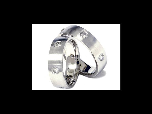 1 1/2ct Matching Palladium Comfort Fit Wedding Ring Set