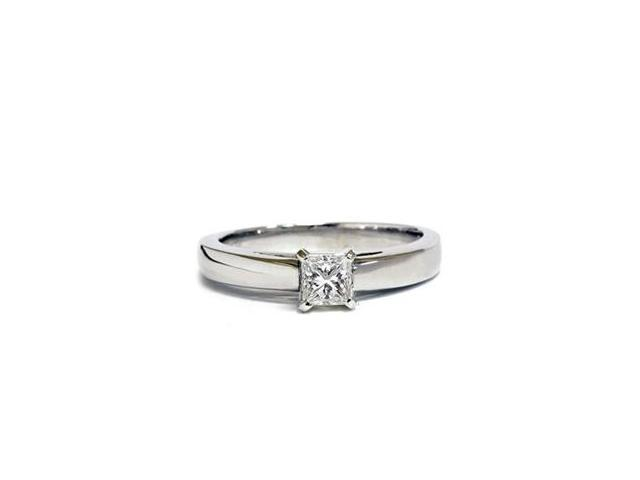 1/2ct Cathedral Solitaire Diamond Ring 14K White Gold