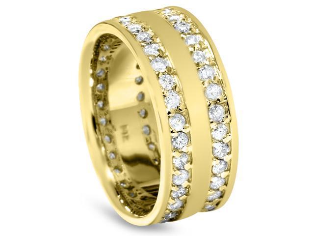 1 1/2ct Diamond Eternity Wedding Anniversary Gold Ring