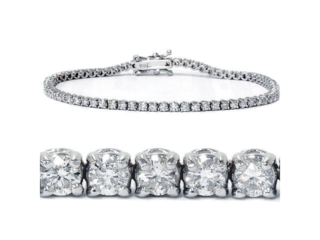 2 1/2ct VS Diamond Tennis Bracelet 18K White Gold 7