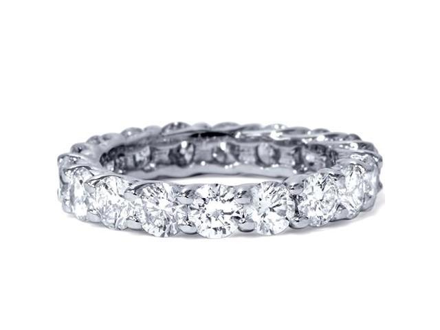3ct Trellis Diamond Eternity Wedding Ring 14K White Gold Womens Stackable Band