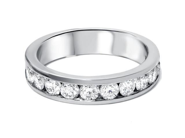 950 Platinum 1ct Channel Set Diamond Wedding Ring