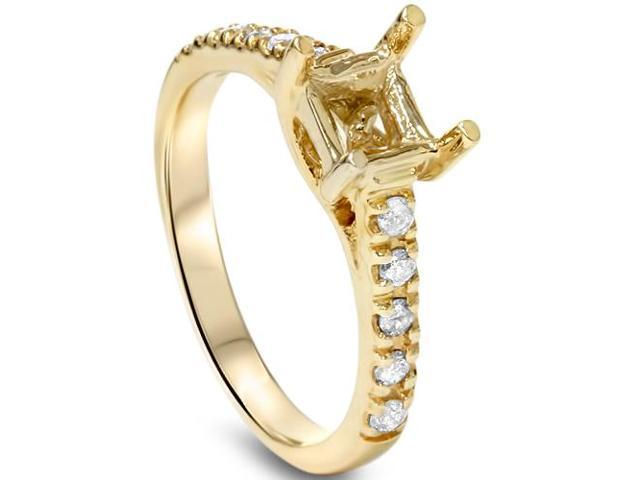 Women's Diamond Semi Mount Engagement Setting Mounting 14K Gold Ring
