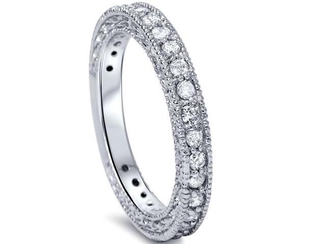 3/4ct Diamond Wedding Ring 14k White Gold Vintage