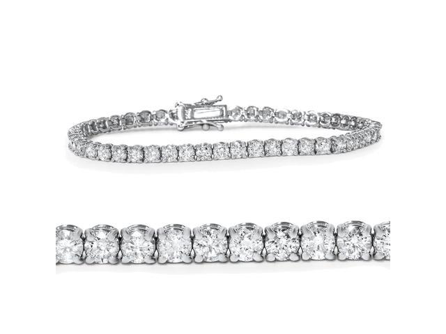5ct Diamond Tennis Bracelet 14K White Gold 7