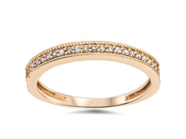 1/4ct Filigree Diamond Ring 14K Rose Gold