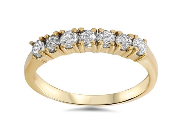 1ct Diamond Wedding Ring Anniversary Yellow Gold New