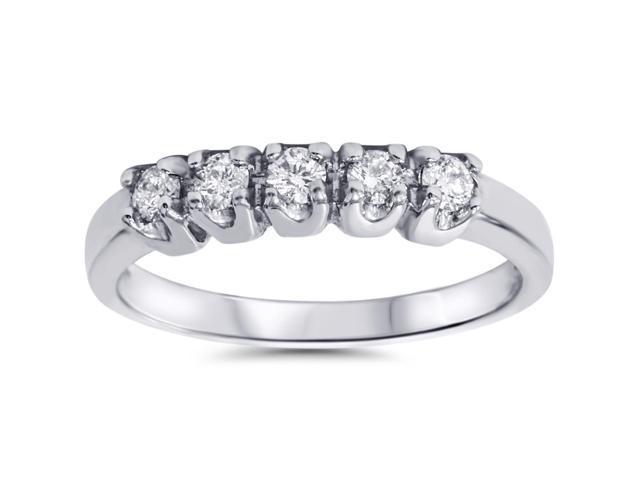 1/4ct SI Diamond Wedding Gold Guard Stacker Ring 6.5