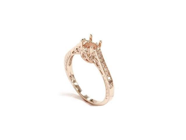 Women's 1/5ct Diamond Rose Gold Engagement Ring Setting Vintage