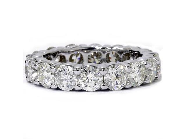 Womens 5ct Diamond Eternity Ring 14K White Gold Womens Wedding Stackable Band