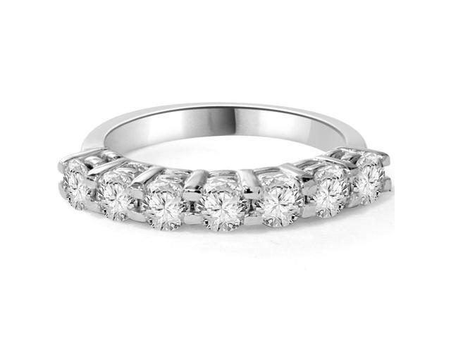 1ct Diamond Wedding Ring Anniversary 14K White Gold