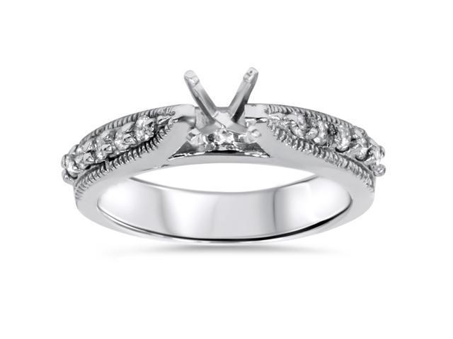 3/8ct Diamond Engagement Vintage Like 14K Ring Setting