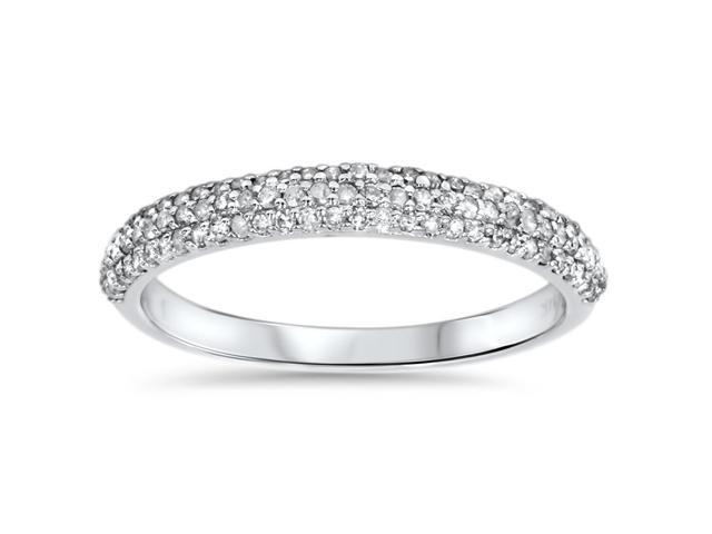 1/2ct Pave Diamond Wedding Ring 14K White Gold