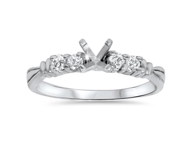 1/3ct Diamond Engagement Semi Mount Ring Setting 14K
