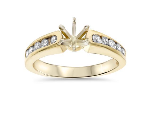 1/2ct Diamond Semi Mount Engagement Ring Setting Gold