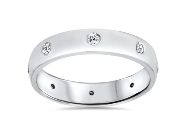 950 Platinum Diamond Wedding Eternity Anniversary Ring