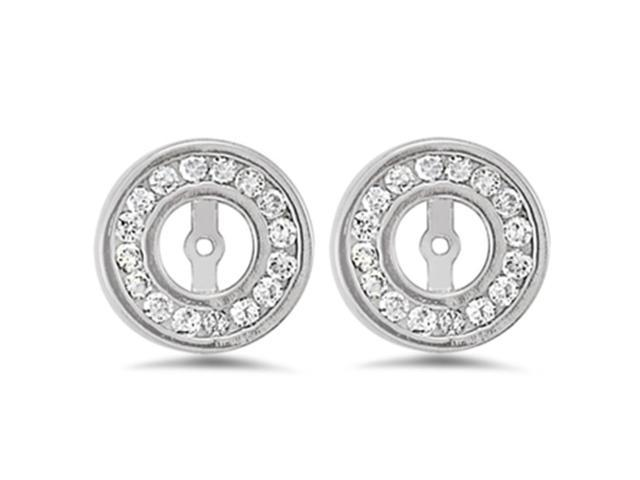 1/2ct Diamond Earring Jacket 14K White Gold