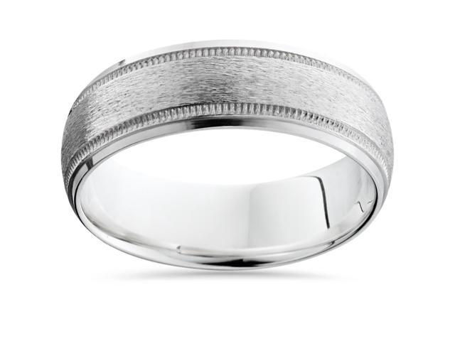 Mens 950 Platinum Wedding Band Brushed Finish Brand New