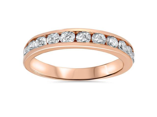 3/4ct 14K Rose Gold Diamond Wedding Anniversary Ring