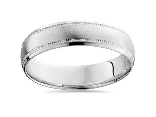 Milgrain Wedding Band 950 Platinum