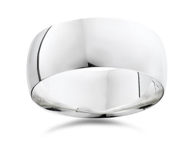 High Polished Wedding Band 14K White Gold