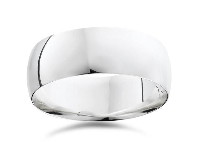 High Polished Wedding Band 950 Palladium