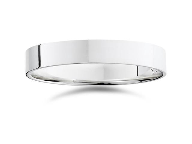 4mm Flat 950 Platinum Comfort Fit Wedding Band Ring