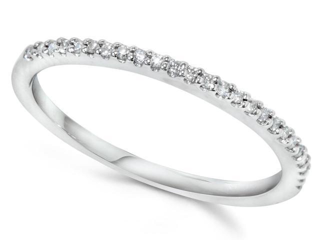 1/10ct Diamond Wedding Ring 10K White Gold
