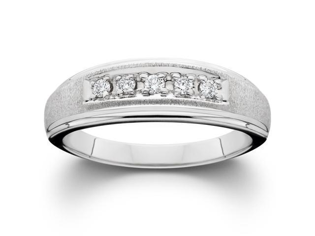 Ladies 14K Yellow Gold 1/6ct Diamond Wedding Ring