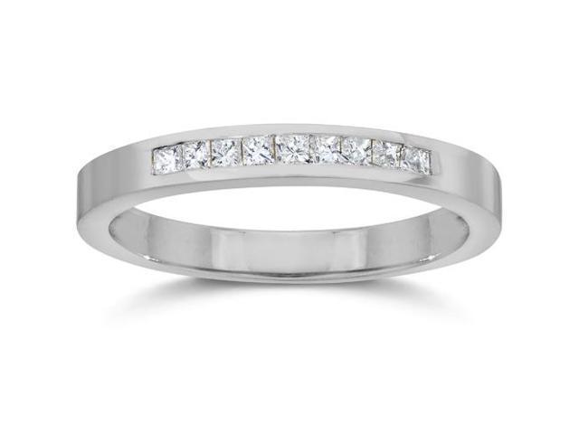 1/4ct Princess Cut Diamond Wedding White Gold 14K Ring