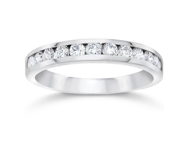 1/2ct 14K White Gold Diamond Wedding Guard Ring Band
