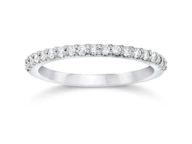 1/8ct White Gold Diamond Anniversary Wedding Guard Ring