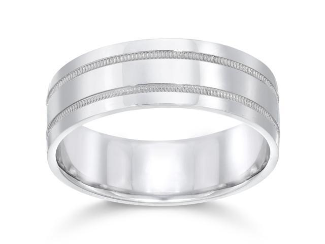 7mm 950 Platinum Comfort Fit Wedding Band NEW Ring