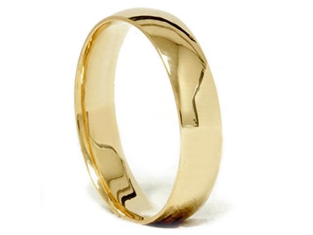 High Polished Wedding Band 18K Yellow Gold
