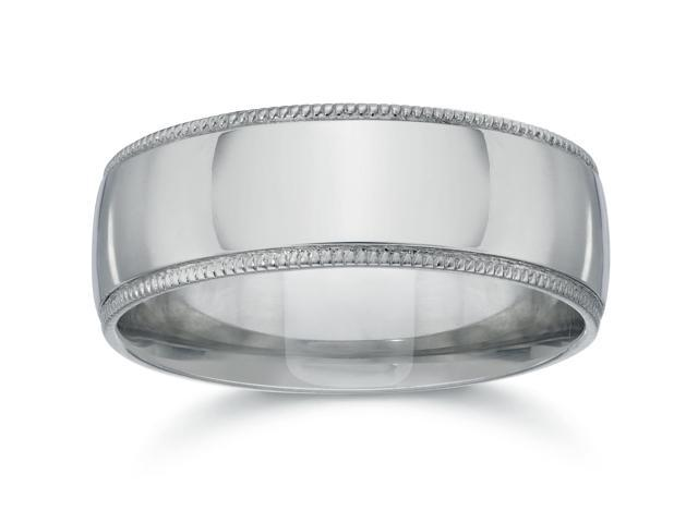 Milgrain Wedding Band 950 Platinum