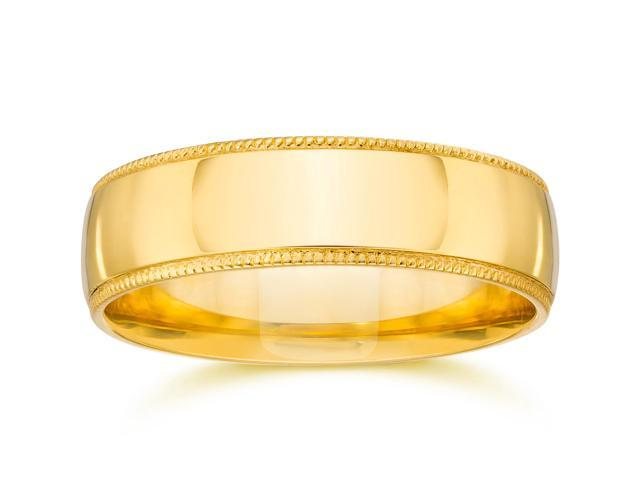 Milgrain Wedding Band 14K Yellow Gold