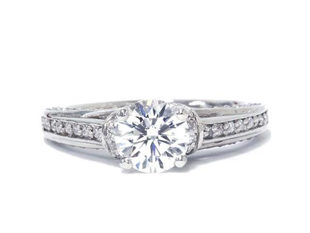 1 1/4ct Diamond Engagement Ring 14K White Gold Round Brilliant Cut Solitaire