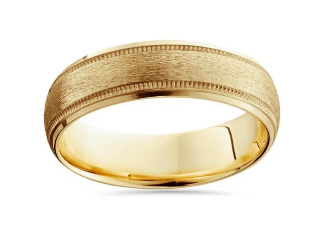 Men's 6mm Comfort Fit Wedding Band Ring 14K Gold
